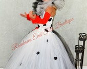 Cruella De Vil inspired tutu Dress size 2t - girls size 8