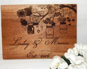 Cutting Board, Personalized Cutting Board, Personalized Gift, Valentine Gift, Wedding Gift, House Warming Gift, Custom Cutting Board
