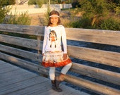 Thanksgiving Doll or Turkey Shirt and Skirt