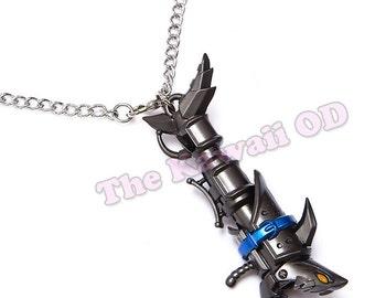 Jinx league of legends fishbones weapon necklace or key chain