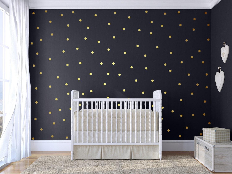 polka dot wall decal gold confetti polka dot polka dot wall. Black Bedroom Furniture Sets. Home Design Ideas
