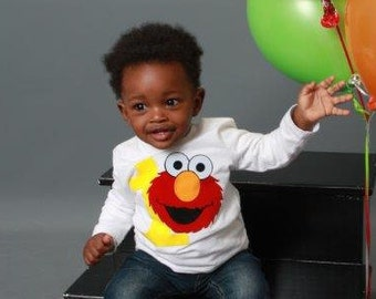 Elmo 1st Birthday Shirt -Option 2