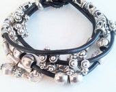 Valentines Day Gift, Jewelry for Her, Hostess gift, Boho bracelet, Women Jewellry, Gift for Her, leather wrap bracelet, Bead bracelet, Beads