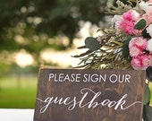 Guest book Sign - Wedding Guestbook Sign - Please Sign Our Guestbook Sign - Wooden Guest book Sign