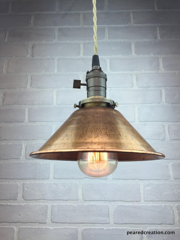 Copper Shade Pendant Industrial Pendant Light Ceiling