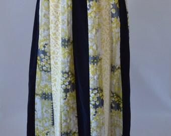 Vintage Chessa Davis Peasant Maxi Skirt 60s