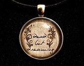 Bookish necklace:  Dead but dreaming - The Call of Cthulhu. H.P. Lovecraft