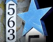 GARDENmarx vertical star address sign
