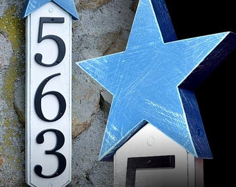 GARDENmarx vertical star address sign
