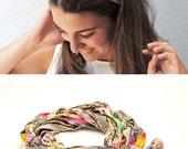 Boho fabric Head Wrap -  Women's Hair Band  - Bohemian Headband -Fashion Hair Accessories - Hair accessories for women