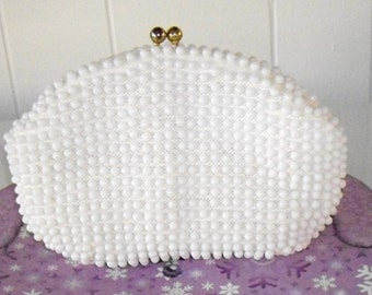 Vintage John Wind Clutch Purse, vintage beaded handbag, retro fashion, very clean
