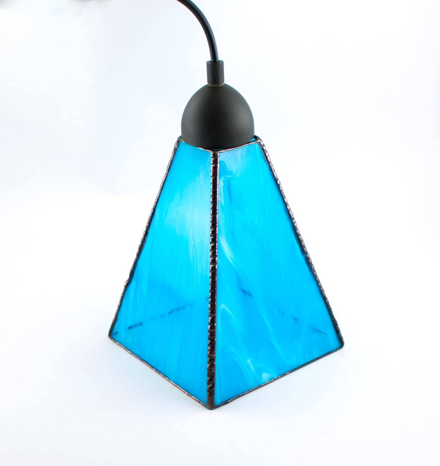 Aqua Blue Glass Pendant Lighting Unique Hanging Lamp Kitchen