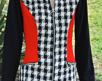 Judy Knapp - Retro 80's - Checkered Jacket/Dress - Size Small