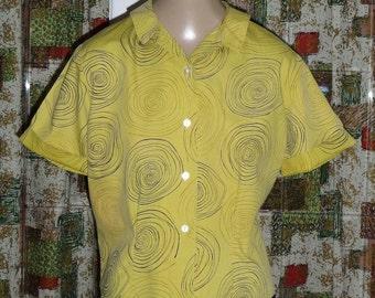 1950s Cotton Blouse #6.