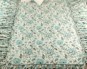 SALE Vintage Waverly Plymouth Paisley Custom Cotton Twin Bedspread