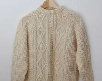 Vintage Hand Knit Wool Sweater