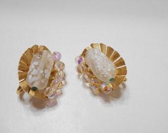 Gorgeous Trifari Clip On Crystal Earrings (1508) Trifari Crown