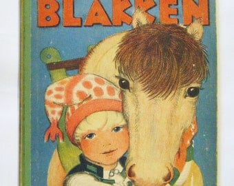 "1933 First Edition ""Ola And Blakken"" Hardcover Childrens Book By Ingri & Edgar Parin d'Aulaire Gorgeous Illustrations Rare"