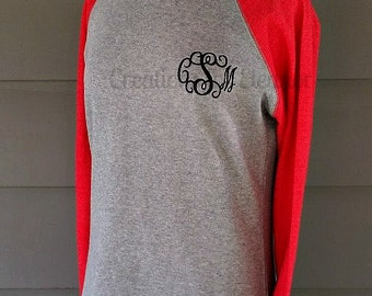 Women's Monogrammed Raglan Sleeve Sweatshirt