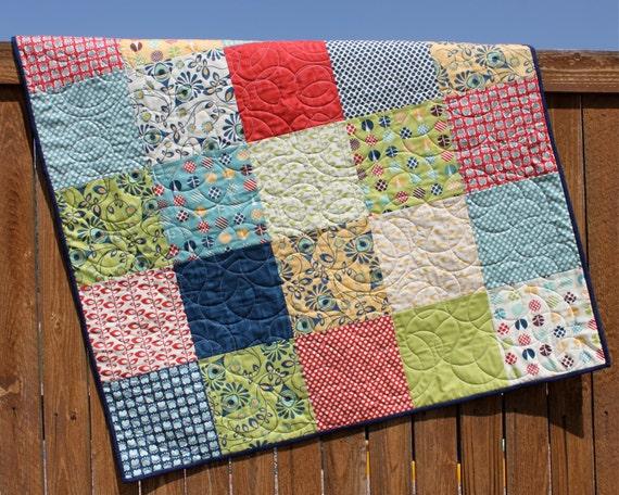 Baby Boy Quilt Fabric Kits: Baby Quilt Kit Social Club