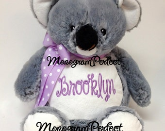 "Personalized, Monogrammed 16"" Koala Stuffed Animal"