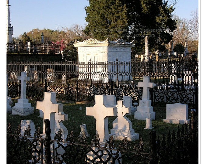 Crosses and Tomb in a Southern Cemetery
