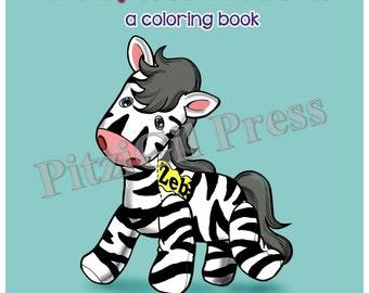 Book, Children's:  Zeb, the Zebra (a coloring book)