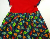 Dinosaur Knit Top Cotton Play Dress
