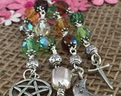 Pagan Gift Idea, Witch Gift, Pagan Gift for a New Home, Witch Keyring, Pagan Bag Charm, Gothic Wiccan Gift