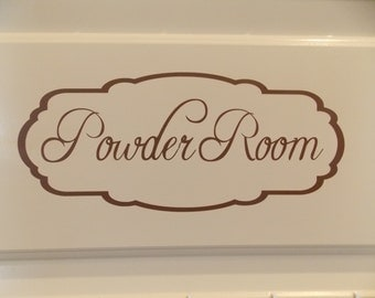 Powder room vinyl