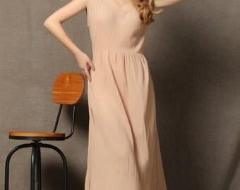 Linen Comfortable Maxi Dress C579