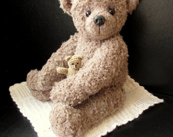 Eric - An OOAK crochet artist bear