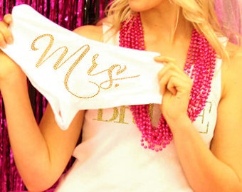 Bridal Gift - Gold Panty Bride Gift, Lingerie Shower Gift, Bridal Shower, Wedding, Honeymoon, Newlywed Gift, Bachelorette Party Gift