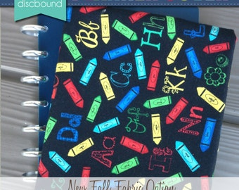 Discbound Planner Cover (Alphabet and Crayons)