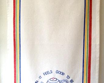 OLD SCHOOL Gangsta Hand-Embroidered Kitchen Towel
