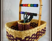 "BASKET PATTERN ""Beatrice"" Sewing Basket with Thread and Scissor Holders"