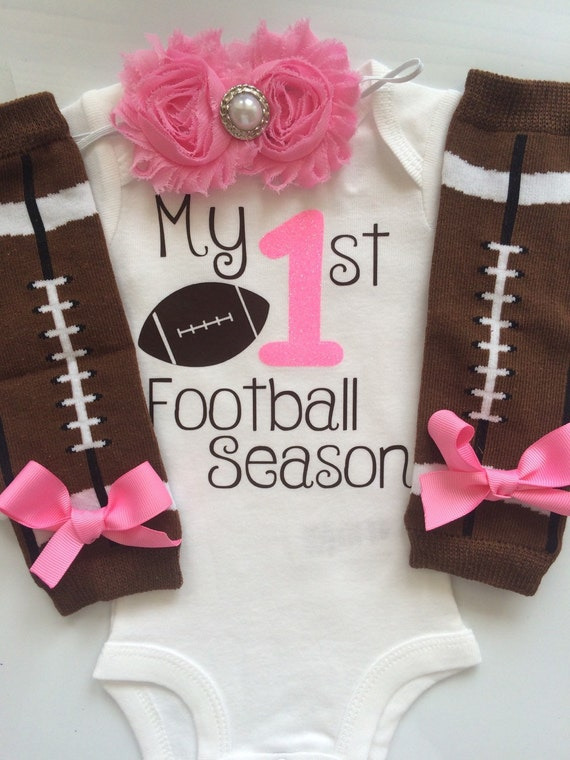 Baby Girl outfit My 1st Football Season baby girl outfit