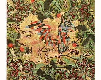 Digital Download 13th Century Inspired Needlepoint Tapestry GRIFFIN Pattern - Vintage Advanced Needlepoint PDF Pattern File GRIFFIN Design