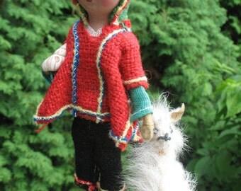 Folk doll Peruvian circa 1970