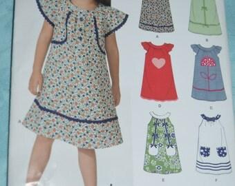 New Look 6960 Girls Dress Sewing Pattern  - UNCUT - Sizes 3 - 8