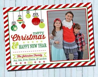 Photo Christmas Card | Ornament Christmas Card | Digital Christmas Card | Photo Holiday Card {L26}
