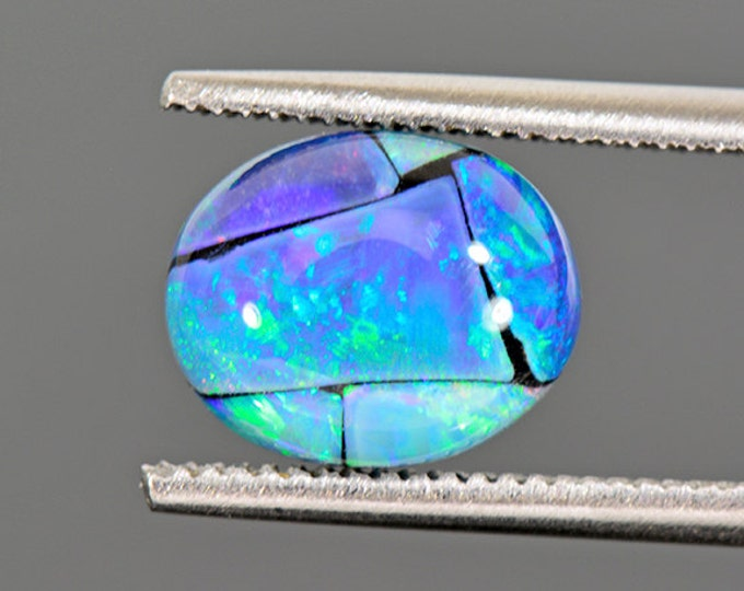 FLASH SALE Stunning Mosaic Opal Triplet Cabochon from Australia 2.77 cts.
