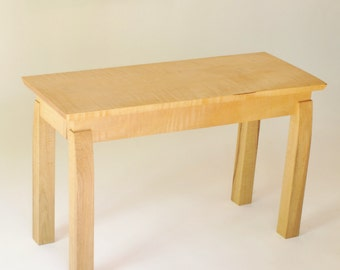 Elegant Narrow Wooden Entryway Bench: Narrow Bench for Hallway, Foyer Bench, Modern Handmade Wood Furniture