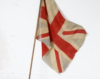 Antique Union Jack Flag - Early 1900s British Flag
