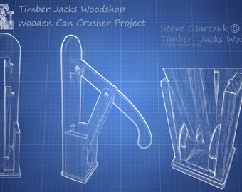 Wooden Can Crusher Parts Plan and Hardware List