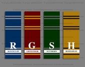 Hogwarts Houses Harry Potter Bookmark – Gryffindor – Slytherin – Ravenclaw – Hufflepuff