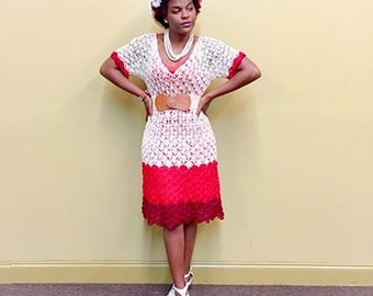 Crochet Red Dream Dress
