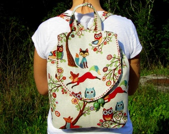 Women Backpack Festival Backpack Backpack Rucksack  Small Women's Backpack Boho Backpack School Backpack New Tapestry Backpack FOREST TALES