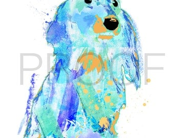 Dachshund || Alex the Dachshund || Watercolor Dog || Dachshund Art || Dachshund Watercolor