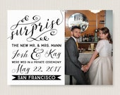 Elopement announcement. Elegant wedding announcement, available as a postcard. Completely customizable and printable. #46